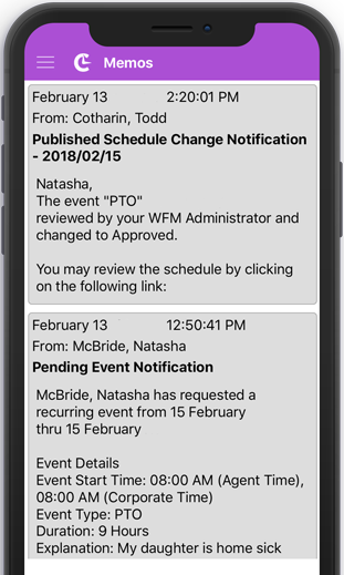 Community Everywhere Mobile Application Notification View